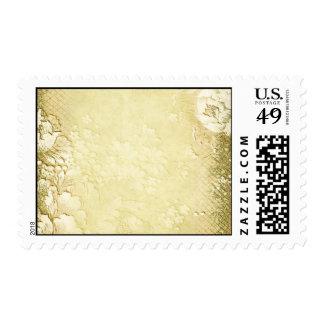 Elegant Antique Vintage Gold Floral Wedding Postage Stamp