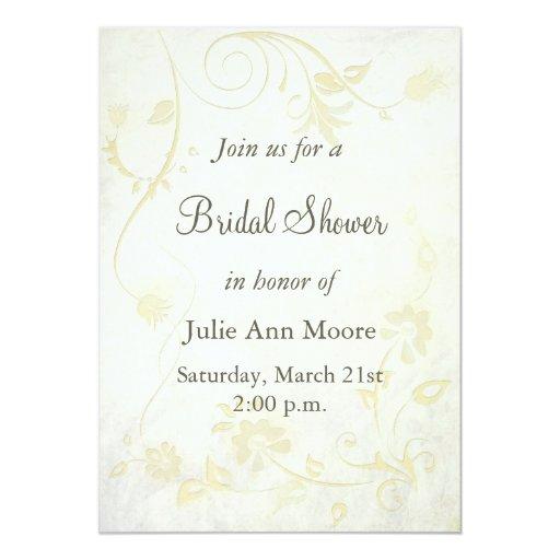 Elegant Antique White Vintage Bridal Shower Card