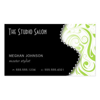 Elegant Appointment Business Card Lime