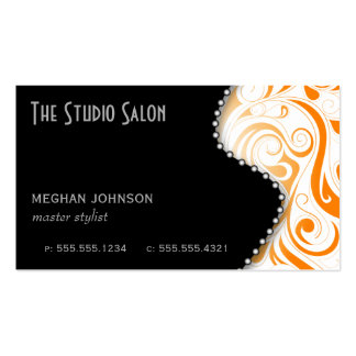 Elegant Appointment Business Card Orange