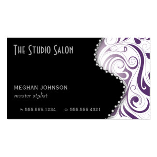 Elegant Appointment Business Card Purple