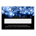 Elegant Appointment Card Blue Sparkling Lights Large Business Cards (Pack Of 100)