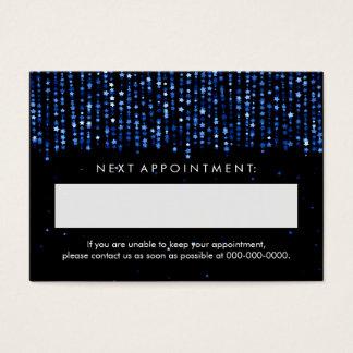 Elegant Appointment Card Blue Stars Confetti