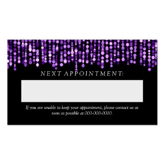 Elegant Appointment Card Purple String Lights Double-Sided Standard Business Cards (Pack Of 100)