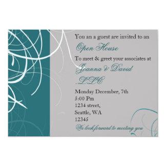 "elegant aqua Corporate party Invitation 5"" X 7"" Invitation Card"
