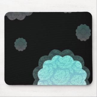 Elegant aqua damask wedding gift mouse pad
