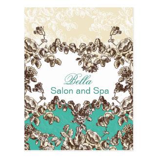 elegant aqua flourish business ThankYou Cards