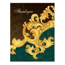 Elegant aqua Thank You Cards