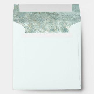 Elegant Aqua Water Envelope