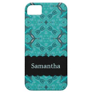 Elegant Aquamarine Personalized Case-Mate iPhone 5 iPhone SE/5/5s Case