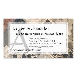 Elegant Architectural Antique Italian Marble Business Card