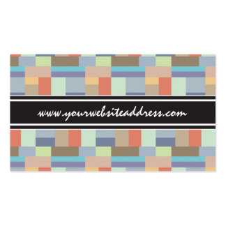 Elegant Architecture Retro Geometric Pattern Double-Sided Standard Business Cards (Pack Of 100)