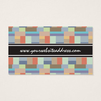 Elegant Architecture Retro Geometric Pattern Business Card