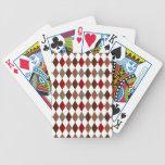 Elegant Argyle Diamond Pattern Bicycle Playing Cards
