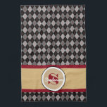 "Elegant Argyle w/Name Golf or Towel<br><div class=""desc"">Add a personal touch to your gift giving.  An elegant Argyle print with name and monogram.  A great golf or hand towel.  Would make a great gift for the golfer in your life!</div>"