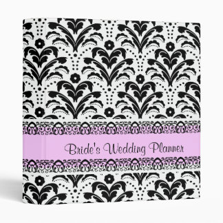 Elegant Art Deco Damask Retro Wedding Planner 3 Ring Binder