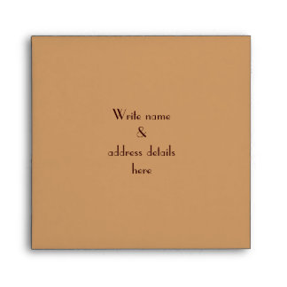 Elegant Art Deco Design Beige Linen Envelopes