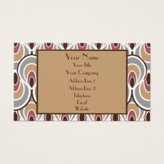 Elegant Art Deco Design Luxury Linen Business Card