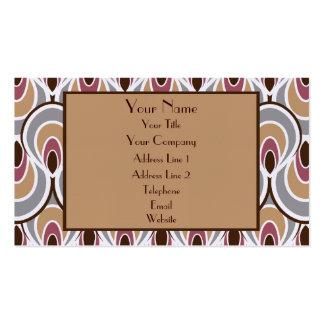 Elegant Art Deco Design Luxury Linen Business Card