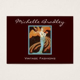 Art history business cards templates zazzle elegant art deco fashion business card reheart Choice Image