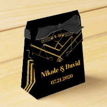 Elegant Art Deco Gatsby Wedding Favor Box