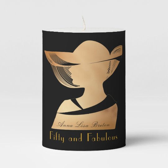 Elegant Art Deco Gold 50 Fabulous Design Sophis Pillar Candle
