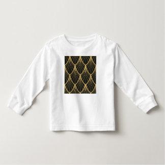 Elegant,Art deco, gold,black,fan,pattern,chic,vint Toddler T-shirt