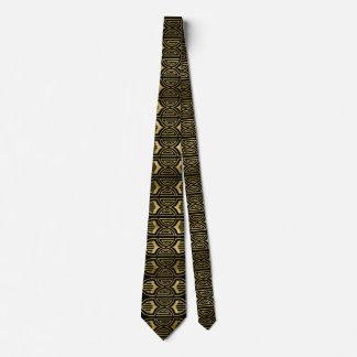 Elegant art deco gold black pattern tie