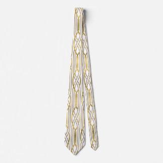 elegant art deco golden pattern tie