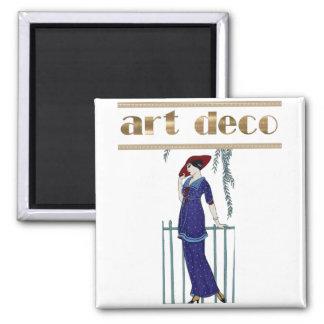 Elegant art deco lady stylish gifts magnet