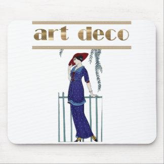 Elegant art deco lady stylish gifts mouse pad