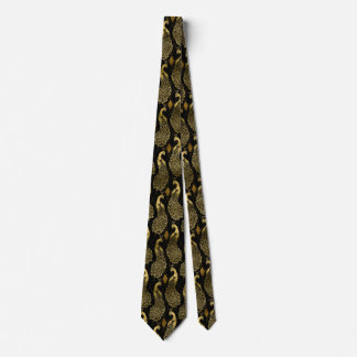 elegant art deco peacock pattern tie