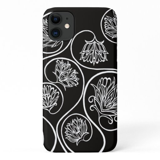 Elegant Art Deco Style Black and White Designer iPhone 11 Case