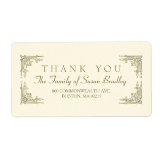 Elegant Art Deco style Family Thank you Label