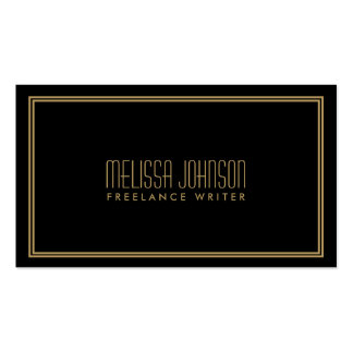 ELEGANT ART DECO STYLE in BLACK GOLD Business Cards