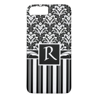 Elegant Art Deco Vintage Floral Damask and Stripes iPhone 7 Plus Case