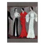Elegant Art Deco Vintage Party Post Cards