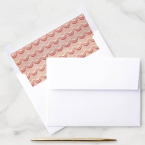 Elegant Art Deco Vintage Red Pattern A7 Wedding Envelope Liner