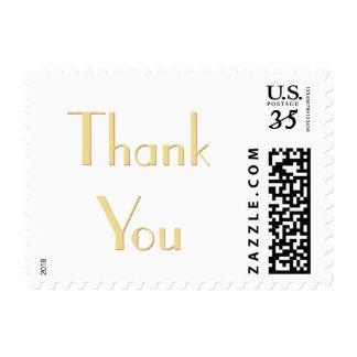 Elegant Art Deco Wedding Thank You Postage Stamp