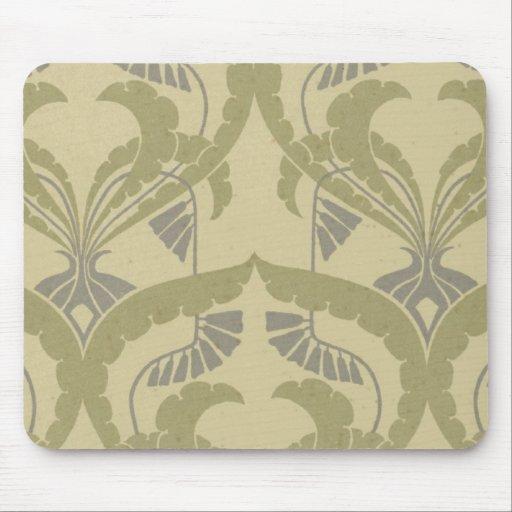 elegant art nouveau abstract pattern mouse pad