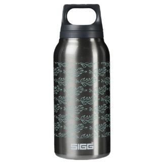 Elegant Art Nouveau Arts and Crafts Leaf Pattern Insulated Water Bottle