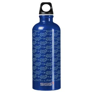 Elegant Art Nouveau Arts and Crafts Leaf Pattern SIGG Traveler 0.6L Water Bottle