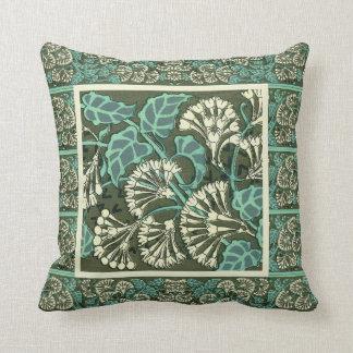 Elegant Art Nouveau Design Throw  Pillow