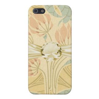 elegant art nouveau flowers floral iPhone SE/5/5s case