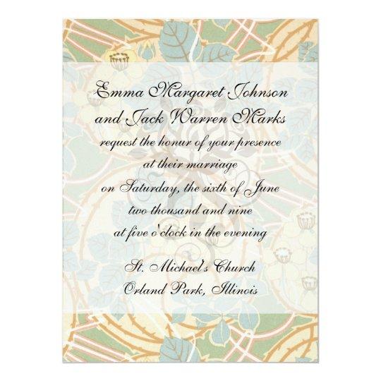 elegant art nouveau summer floral pattern card
