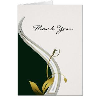 Elegant Art Nouveau Thank You Card