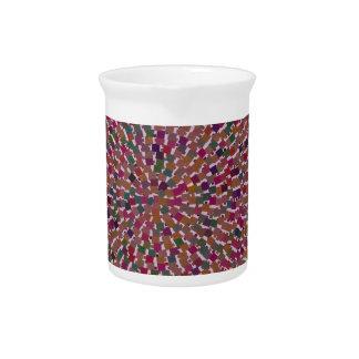 Elegant Artist created Energy Texture GOODLUCK fun Beverage Pitchers