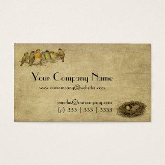 Elegant & Artistic Birds And Nest- Business Card