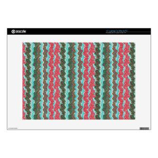 "Elegant Artistic Waves Pattern Texture on Gifts 99 15"" Laptop Skin"