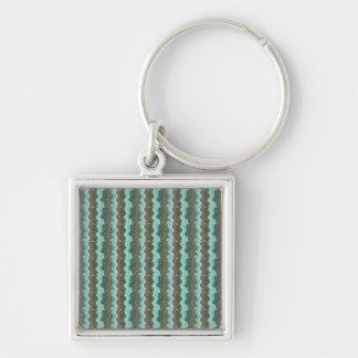 Elegant Artistic Waves Pattern Texture on Gifts 99 Silver-Colored Square Keychain